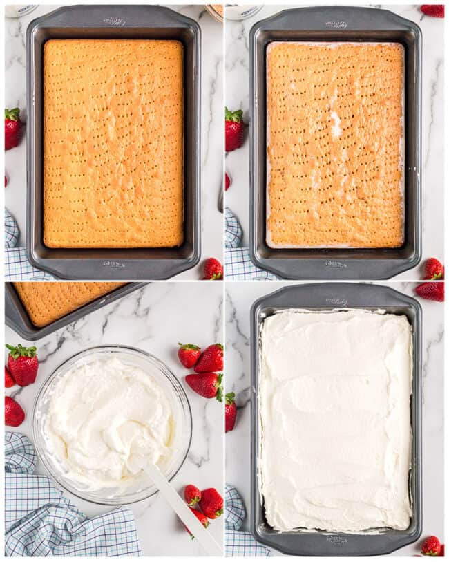 step by step photos of how to make an easy tres leches cake