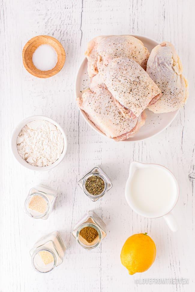 ingredients to make air fryer chicken thighs
