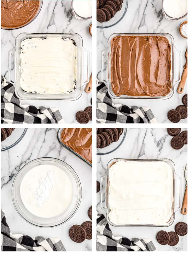 photos showing how to make a dirt cake