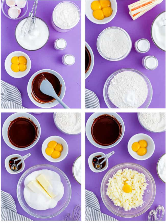 step by step photos showing how to make a bakers german chocolate cake
