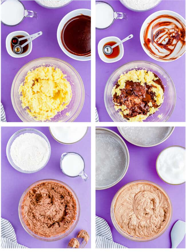 step by step photos showing how to make german chocolate cake