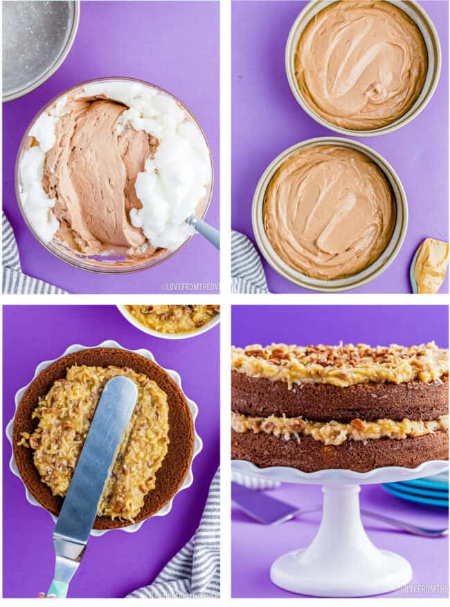 step by step photos of how to make german chocolate cake