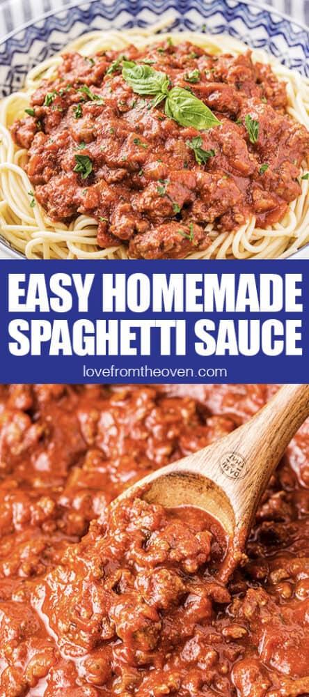 photos of homemade spaghetti sauce