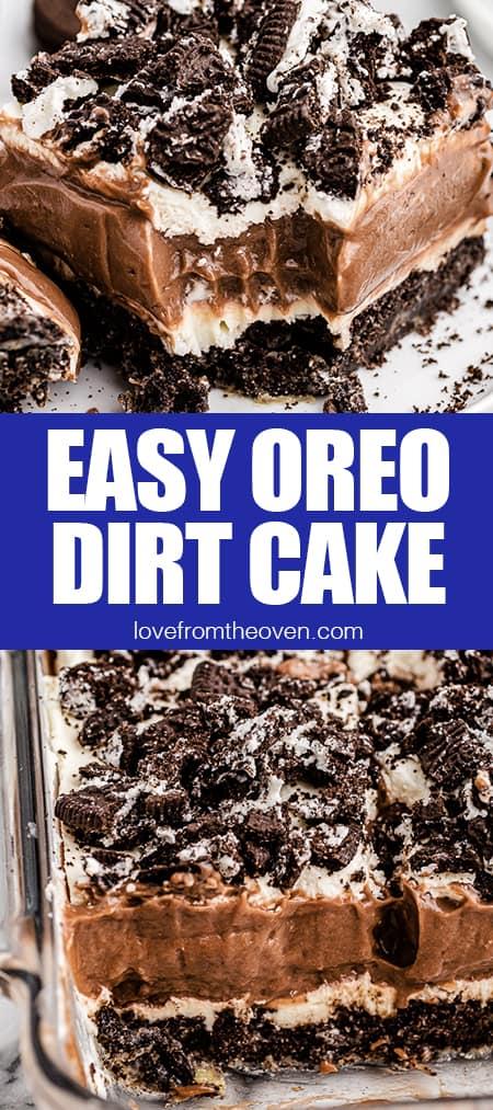 photos of oreo dirt cake