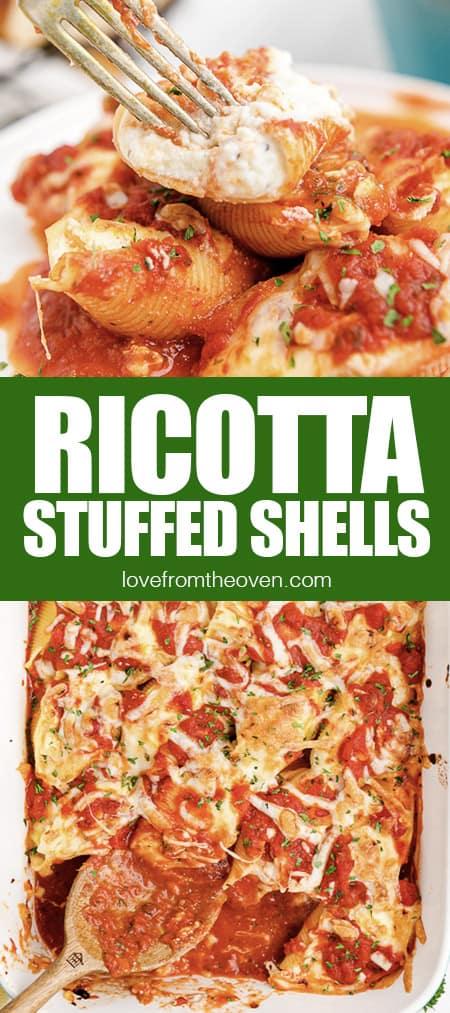 pans of stuffed shells