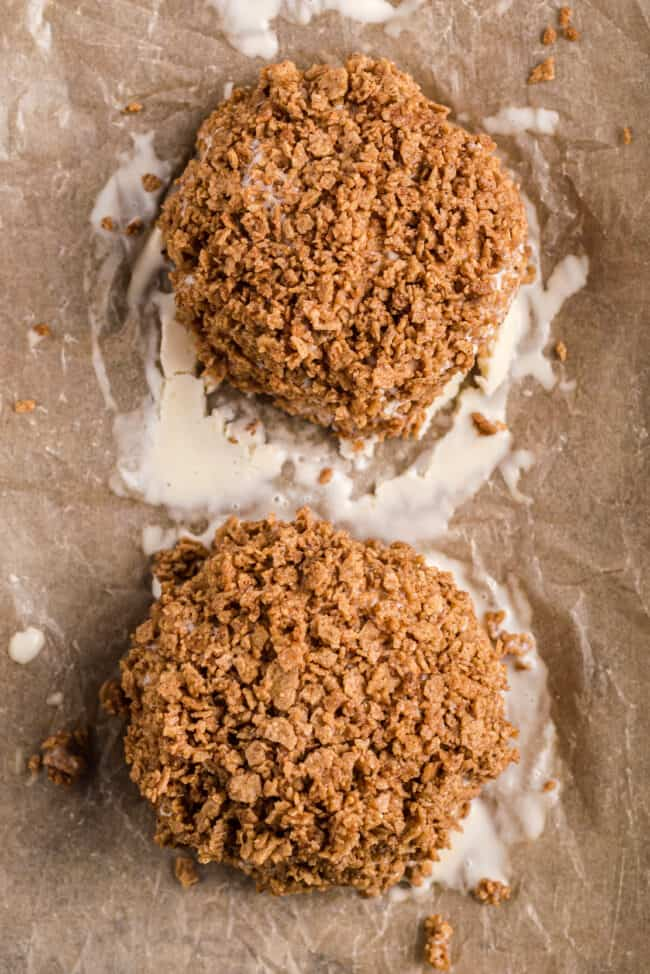 balls of fried ice cream on a sheet