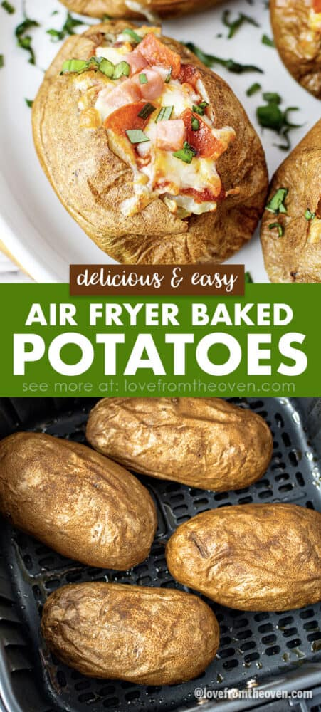 photos of baked potatoes in air fryer