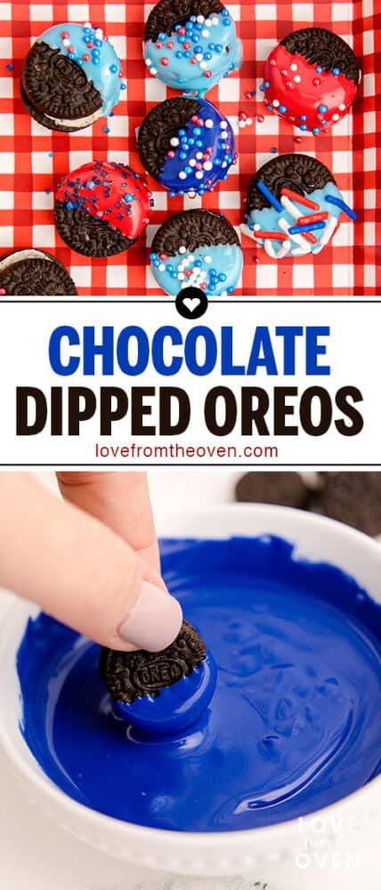 photos of chocolate dipped oreos