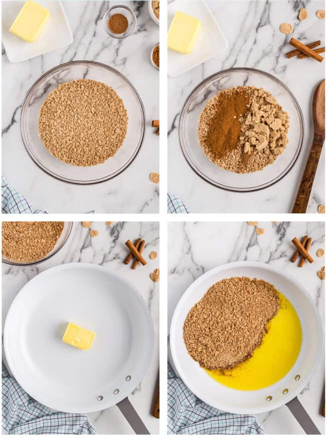 step by step photos how to make fried ice cream