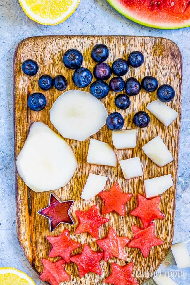 fruit on a cutting board
