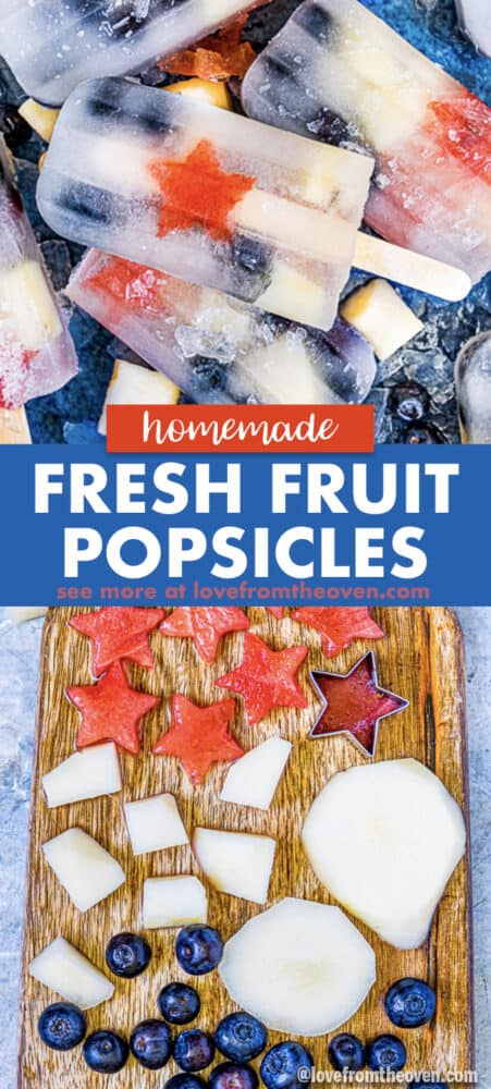 fruit popsicles and cut fruit