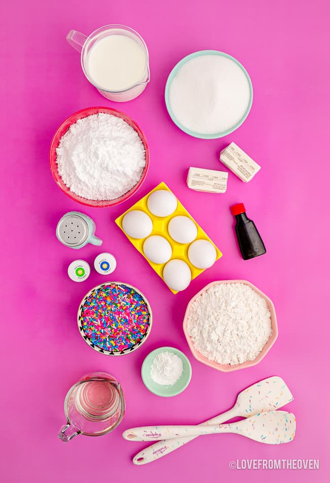 ingredients for funfetti cake
