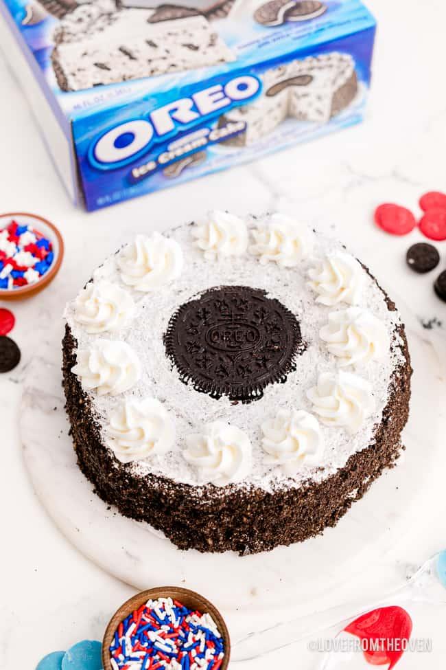 An oreo ice cream cake