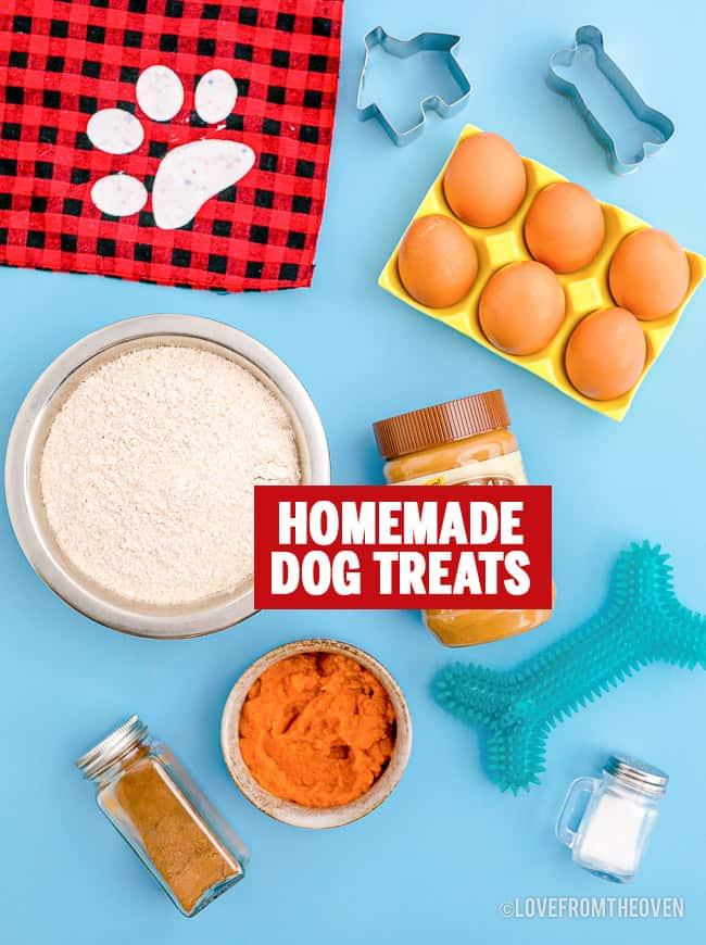ingredients to make homemade dog treats