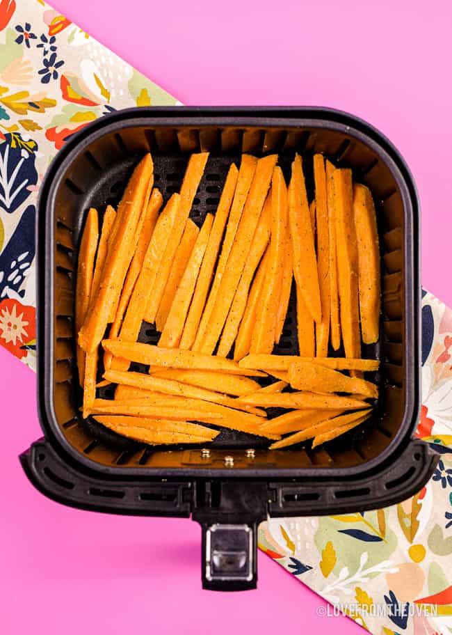 Sweet potato fries in air fryer.