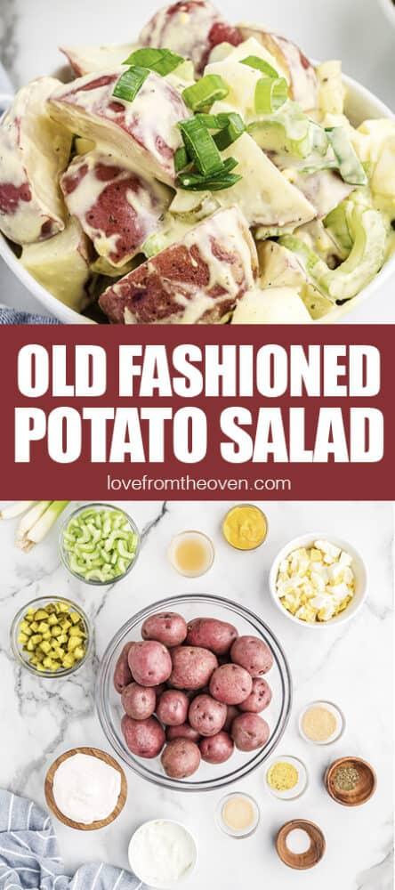 Photos of old fashioned potato salad.