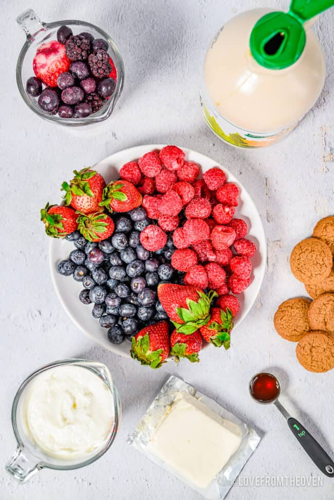 Berry Parfait ingredients.