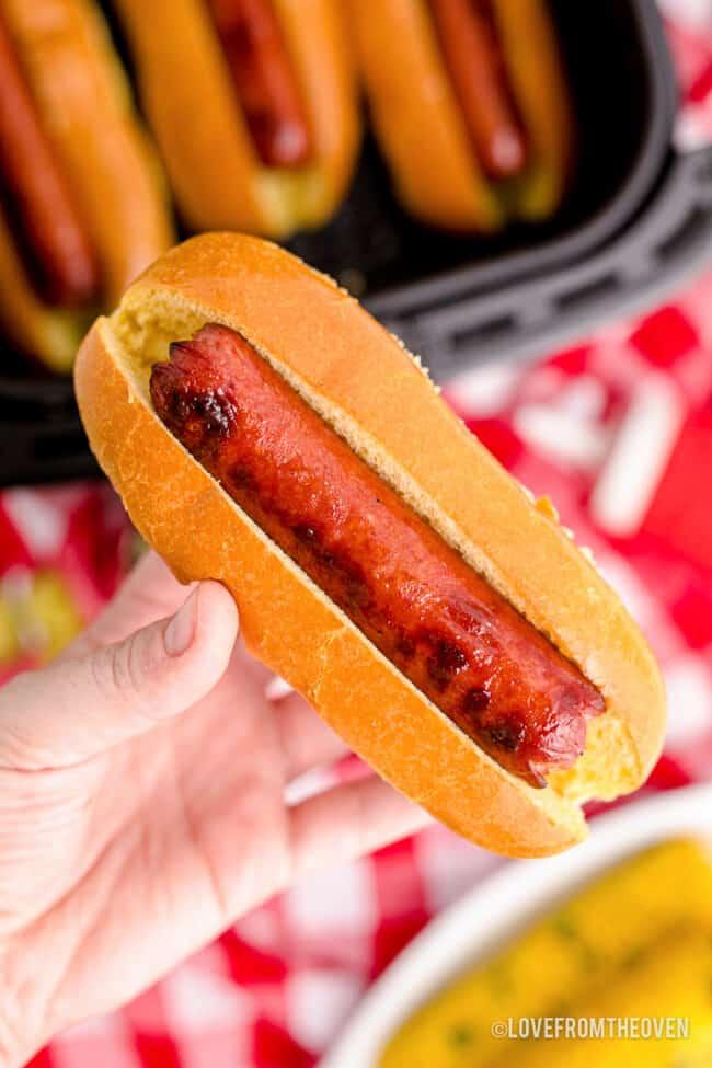 air-fryer-hot-dog
