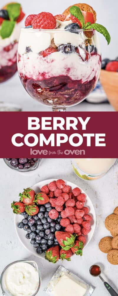 photos of berry compote parfaits