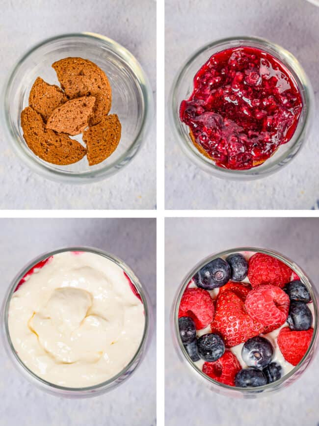 how to make a berry parfait