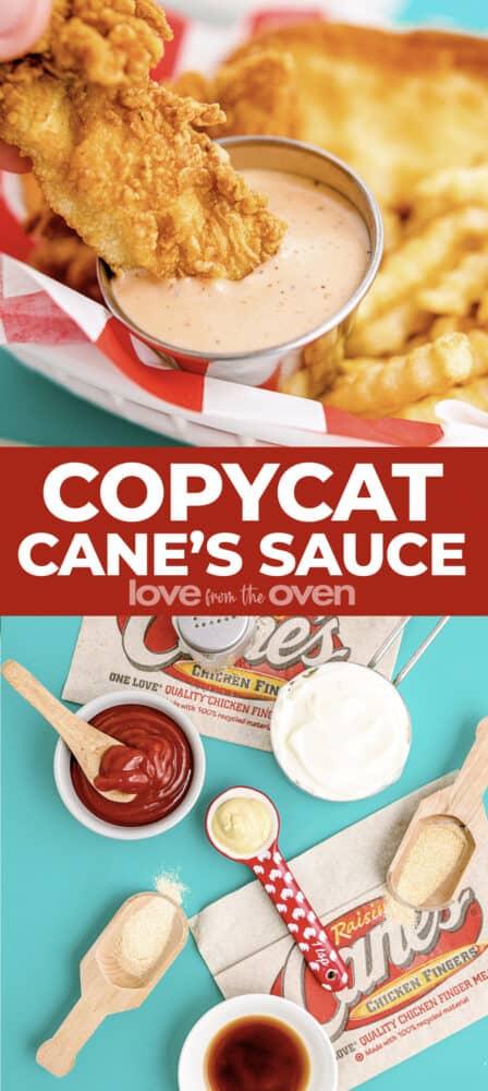 Photos of a copycat Cane's sauce.